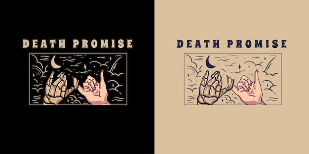 Death promise illustration for tshirt