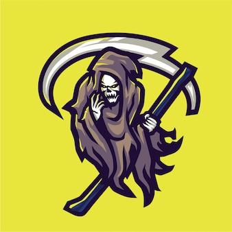 Death skull mascot logo