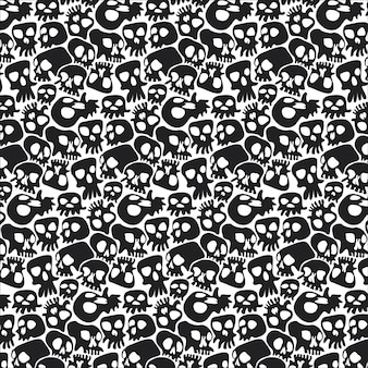 Death skulls halloween background