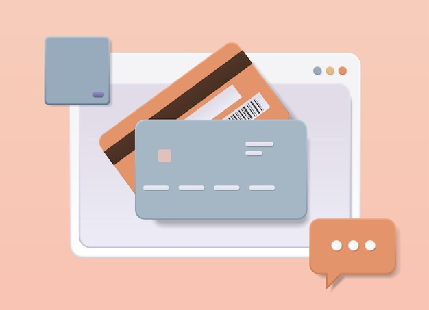 Debit or credit card web service for secure electronic wireless payment digital transaction online shopping money transfer concept horizontal