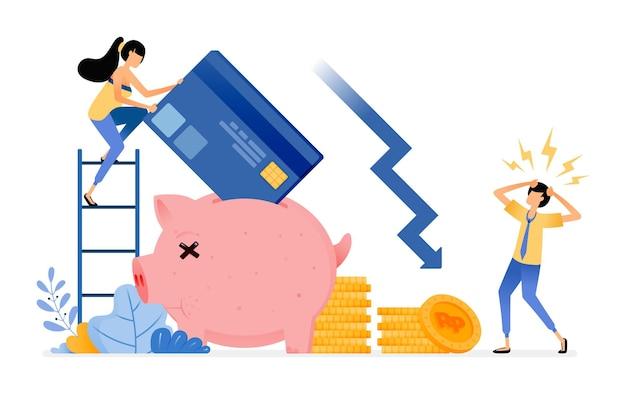 Задолженность и ссуды. уменьшение сбережений при просроченных платежах по кредитной карте
