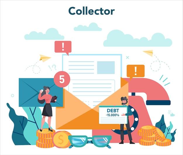 Иллюстрация концепции сборщика долгов