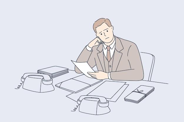 Концепция потери денег банкротство долги