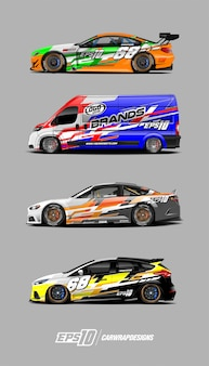 Decal car set for race car