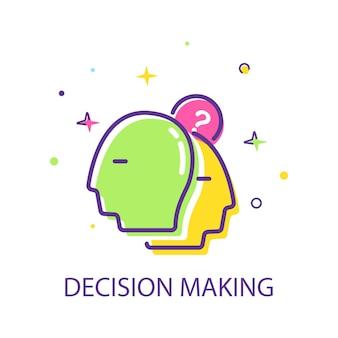의사 결정 건축가 선택 트리 마케팅 개념 심리학 및 신경 과학 사고 방식