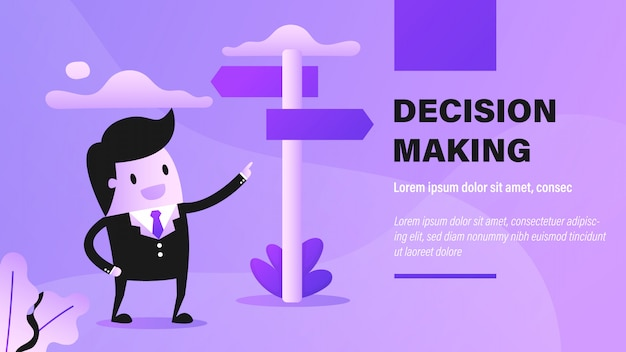 Decision making banner