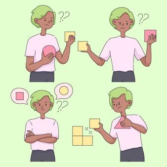Принятие решения выбор вариантов концепции милые иллюстрации