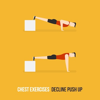 Decline push up demostration
