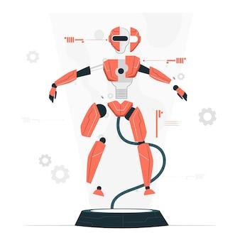 해체 된 로봇 컨셉 일러스트