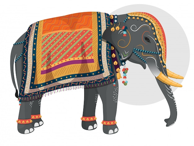 Decorated character of elephant