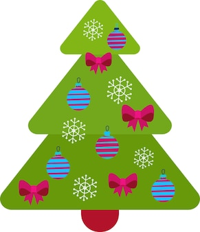 Украшенная елка украшения из шаров и лампад свечи с рождеством христовым