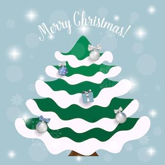 크리스마스 트리 장식. 휴일 배경. 즐거운 성탄절 보내시고 새해 복 많이 받으세요.