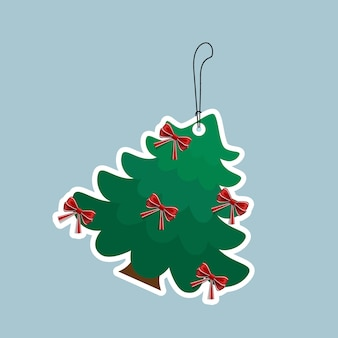 Decorated christmas tree. holiday background. merry christmas and happy new year.