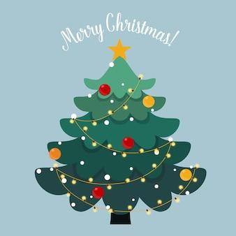 飾られたクリスマスツリー。