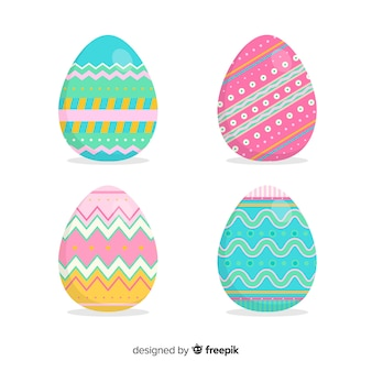 Decorated easter egg collection