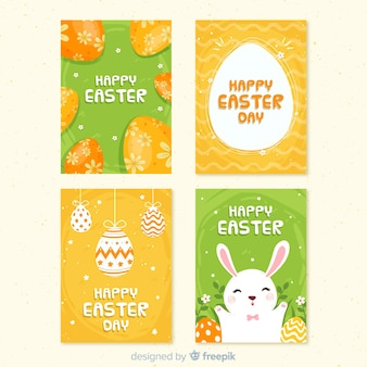 Decorated eggs easter card collection