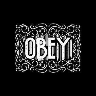 Decorated handlettering obey