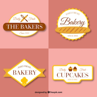 Decoratice bakery vintage badges