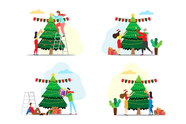 Decorating the christmas tree variety ideas