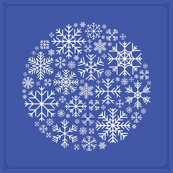 Decorating made of snowflakes