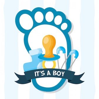 Decoration for baby shower card