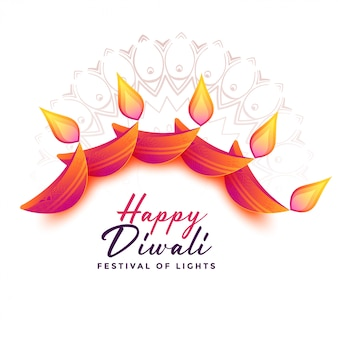 Decoration background for diwali festival