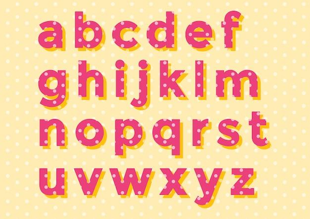 Decoration circle pattern alphabet set