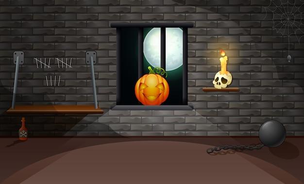 Украшающий дом хэллоуина