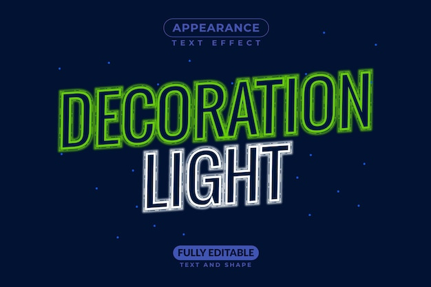 Decoration light christmas light free text style effect