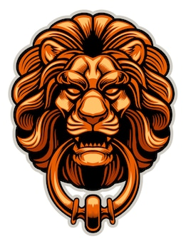 Decoration of lion door knocker copy