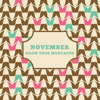 Decorative abstract background of movember