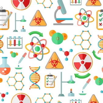 Decorative abstract chemistry  dna research symbols