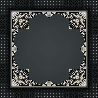 Decorative abstract frame