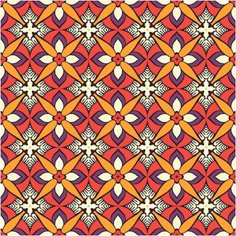 장식적인 추상 원활한 패턴 배경