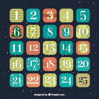 Calendario dell'avvento decorativo