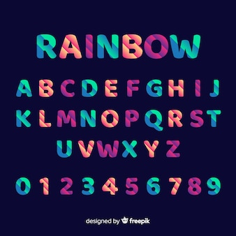 Decorative alphabet template gradient stytle