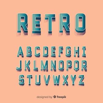 装飾的なアルファベットのテンプレートレトロなスタイル