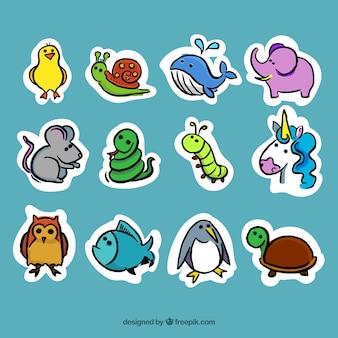 Decorative animals stickers
