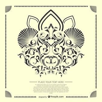 装飾的な唐草カードテンプレート