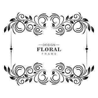 装飾的な芸術的な花のフレームデザイン