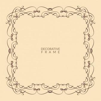 Decorative artistic frame design