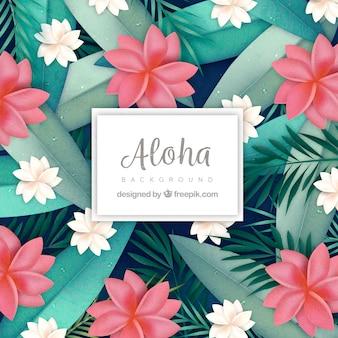 Decorative background of exotic flowers