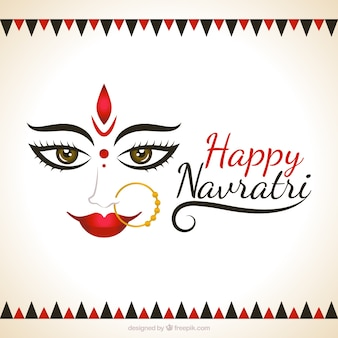 Decorative background of happy navrari