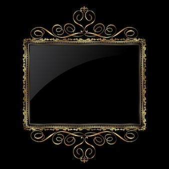 Декоративный фон в металлическом золоте и черном