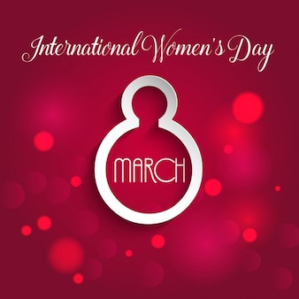 Decorative background for international womens day