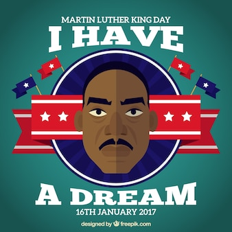 Decorative background of martin luther king day in flat design