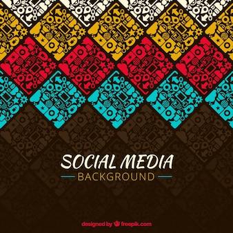컬러 소셜 네트워크의 장식 배경