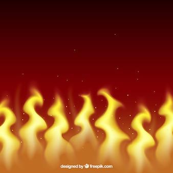 Декоративный фон пламени