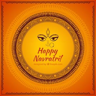 Decorative background of happy navatri