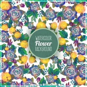 Sfondo decorativo di fiori ad acquerello